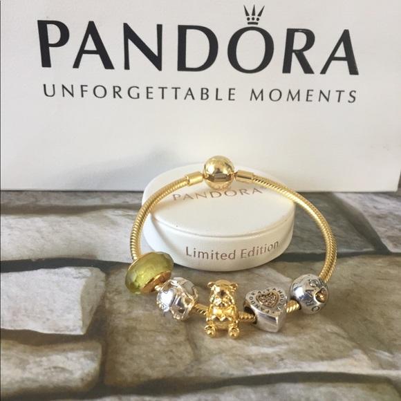 ec988708e Pandora Jewelry | New Shine Charm Bracelet W Charms | Poshmark